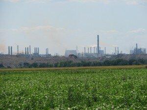 Вид на Запорожские заводы