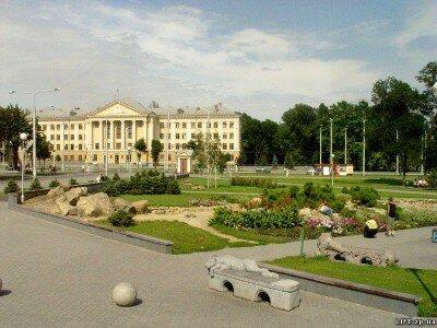 Парк возле городской Мэрии