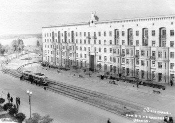 Проспект Ленина. Дом 1949 года построения.