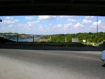 Выезд на Хортицу с моста