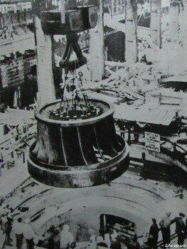 Монтаж гидроагрегатов станции