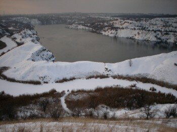 Мокрянский карьер зимой. Автор: kovpey.