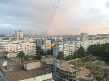 Крыши Запорожья. Обзорная фотография.