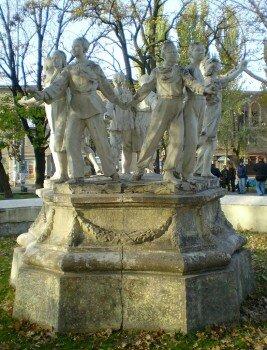 Памятник «Фонтан Дружбы». Пионерская дружба.