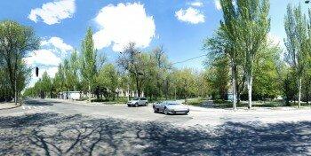 Панорама пересечения Гоголя и Коммунаровской.