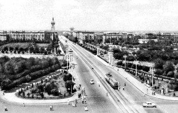 1961-й год проспект Ленина с высоты.