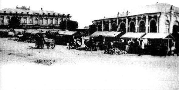 Базарная площадь 1908 год.