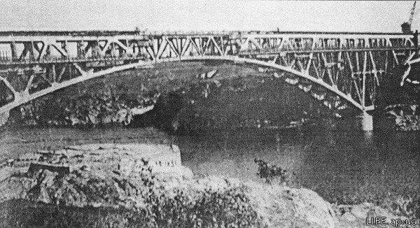 Демонтаж Кичкасского моста в сентябре 1931 года. Фото 30-х гг.