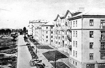 Улица Южноукраинская в 1955 году.