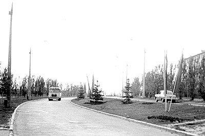 Улица Победы в районе 5-й горбольницы. 1963 год.