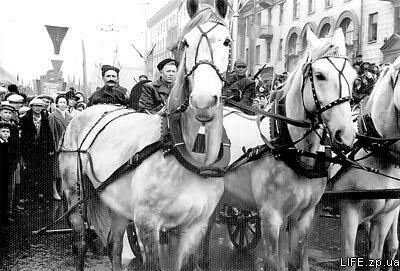 1961 год. Чапаев на тачанке.