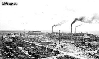 1933 год. Панорама строительства Запорожского индустриального комплекса (в районе нынешнего завода огнеупоров)