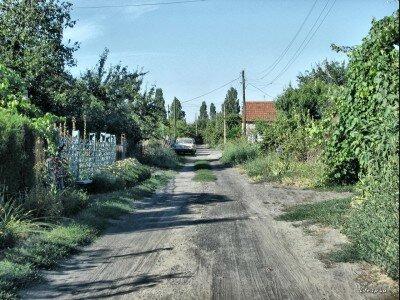 Одна из улиц поселения на Хортице.