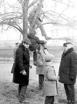 "1974 год. Съемки фильма ""Единственная"" возле коксохимзавода."