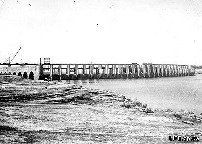 Строящейся ГЭС в 1946 году