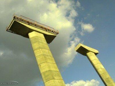 Опоры нового строящегося моста