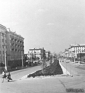 Проспект Ленина в районе кинотеатра имени Довженко, 1960 год