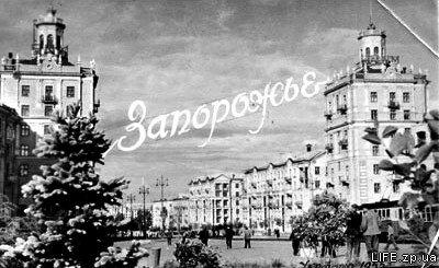 Проспект Ленина в районе нынешней площади Поляка, 1955 год