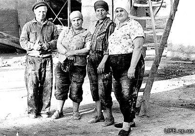 Работники завода силикатного кирпича, 1964 год