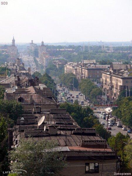 Проспект Ленина с высоты