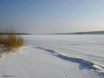 Днепр полностью покрыть слоем льда