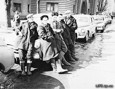 Запорожские таксисты, 1960 год.