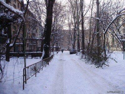 Один из дворов зимнего Запорожья