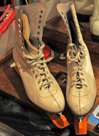 Советские кожаные коньки для фигурного катания