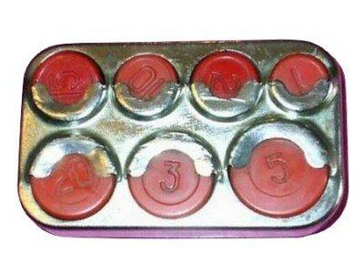 Кошелек для монет номиналом: 1, 2, 3, 5, 10, 15 и 20 копеек