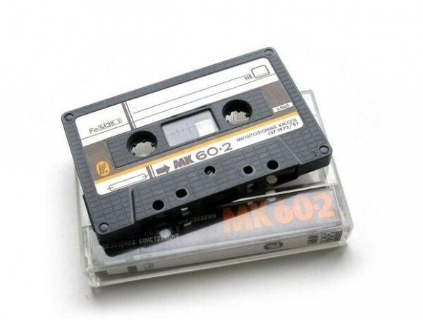 Советская магнитофонная кассета для использования в магнитофонах