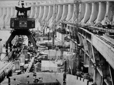 Строительство второй очереди ДнепроГЭС-2