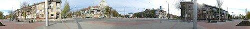 Виртуальная панорама самолета и памятника к 60-ю победы, на улице победы.