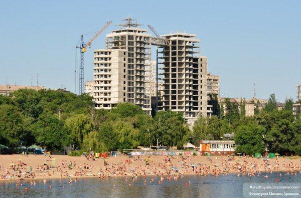 Центральный городской пляж на Днепре