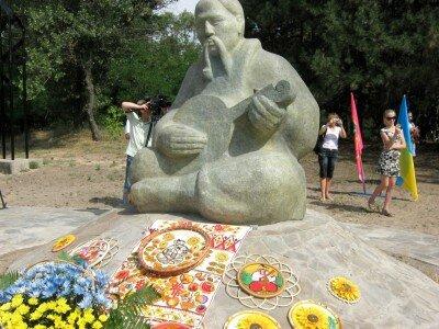 Открытие памятника на острове Хортица.
