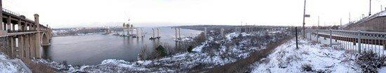 Виртуальная панорама нового строящегося моста