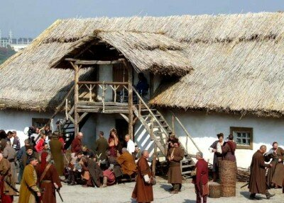 Съемки фильма Тарас Бульба на острове Хортица