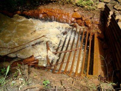 Вода уходит под землю