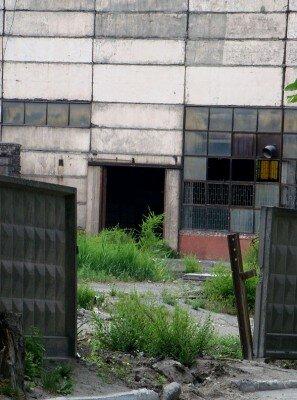 Вход/въезд на заброшенный цех