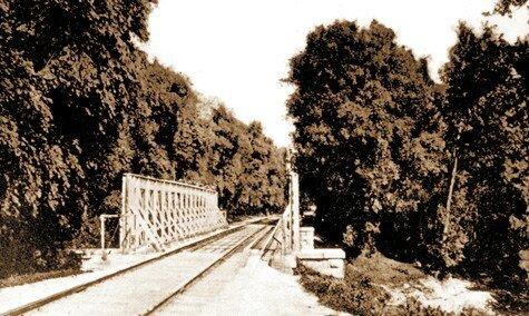 Город Александровск, мост в Плавни 1909 год