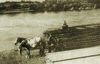 Город Александровск, строительство моста через Днепр, 1870 год