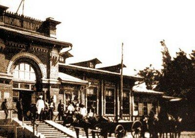 Александровск, железнодорожная станция, 1911 год