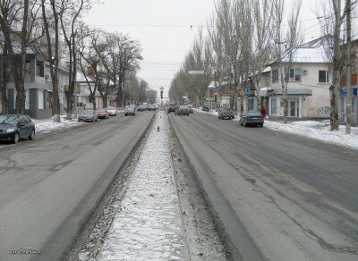 Ул. Победы в районе ул 12 апреля в сторону бульвара Шевченко