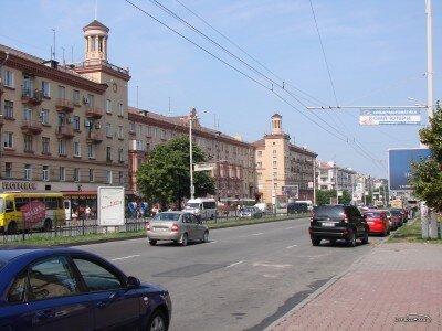 На проспекте Ленина, лето 2009 года