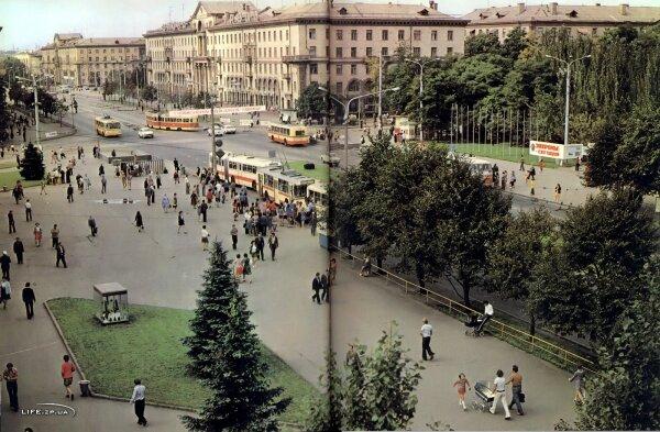 Возле универмага Украина, из книги фотоальбома «Запорожье»