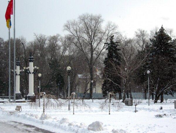 Запорожье зимой, 2011 год
