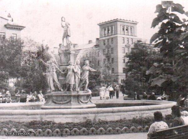 Фонтан на Анголенко 50-е годы, ретро фото