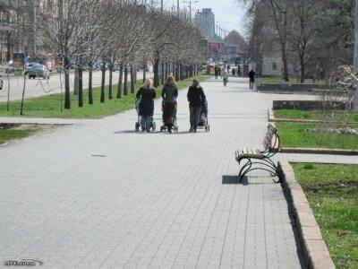 Проспект Ленина в районе Аллеи Славы
