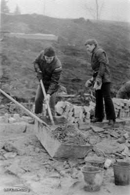 Субботник, строительство шлюза 4 апреля 1980 года