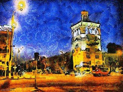 Ван Гог на проспекте Металлургов, фото подражание