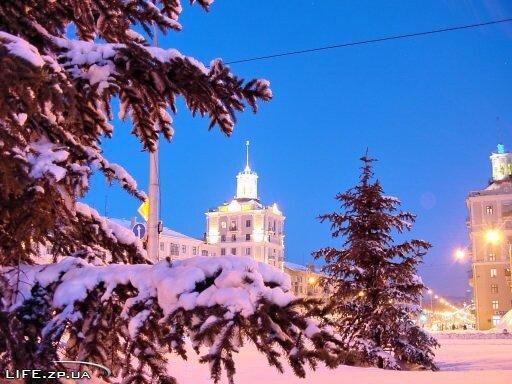 Зима в Запорожье